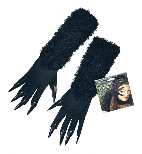 Cat Gloves With Claws Feline Pussy Pet Animal Fancy Dress Accessory